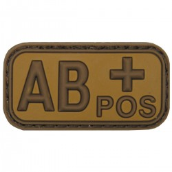 BLOOD TYPE PATCH   ΑB+   (PVC COYOTE)