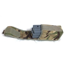 GB  MTP CAMO SHARP SHOOTER 3X5.56mm/2X7.62mm MAGAZINE POUCH USED