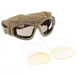 GB REVISION SAFETY GOGGLES & spare glasses COYOTE