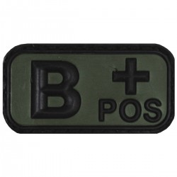 BLOOD TYPE PATCH   B+   (PVC OD)