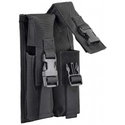 DEFCON 5 DOUBLE MAGAZINE POUCH MP-5 MAGAZINE 9MM Black